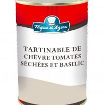 TARTINABLE DE CHEVRE, TOMATES SECHEES ET BASILIC
