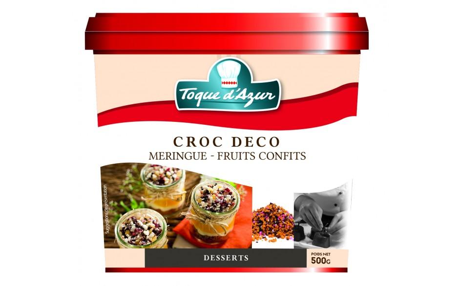CROC DECO MERINGUE - FRUITS CONFITS