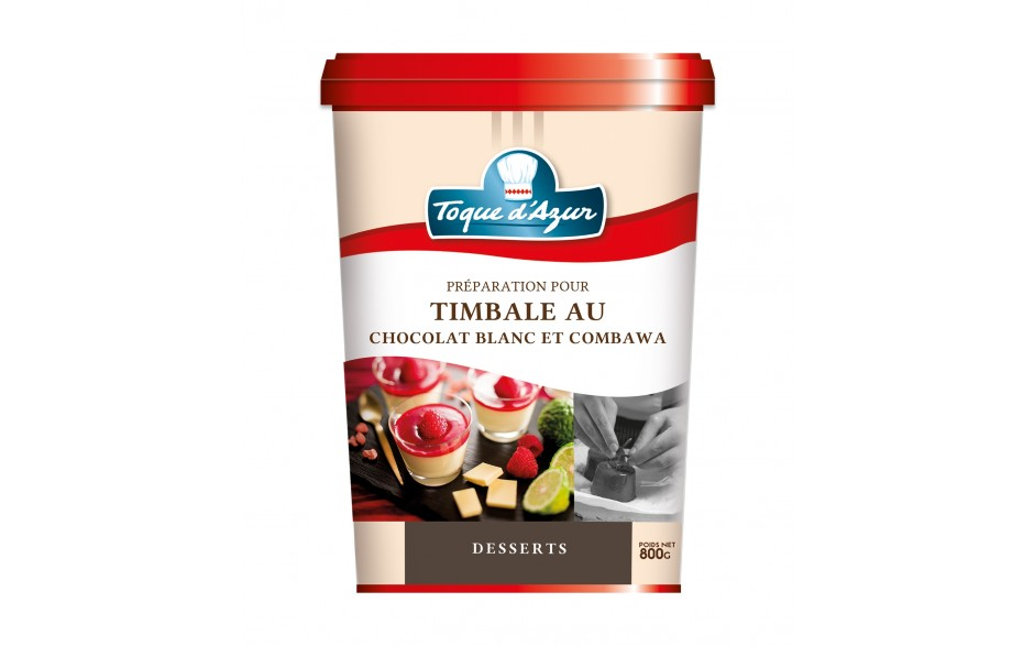 PREPARATION POUR TIMBALE AU CHOCOLAT BLANC ET COMBAWA
