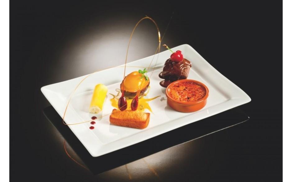 Assiette gourmande moelleux au chocolat sauce noisette for Az cuisine dessert