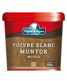 POIVRE BLANC MUNTOK MOULU 500 GR