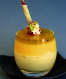 Duo de crème tropézienne et de crémeux citron, gelée de kiwi