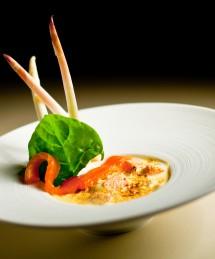 Gratin d'asperges et saumon fumé
