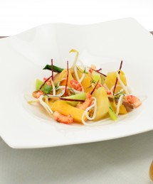 Bouillon thaï d'écrevisses aux légumes d'automne et shiitake