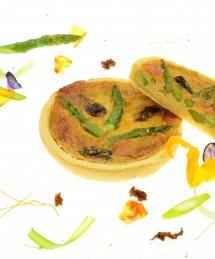 Tartelette aux asperges vertes et morilles